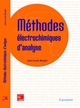 Méthodes électrochimiques d'analyse De BURGOT Jean-Louis - TECHNIQUE & DOCUMENTATION