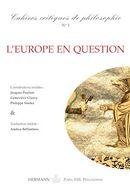 Cahiers critiques de Philosophie, n°5 - L'Europe en question De Bruno Cany - Hermann