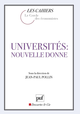 Universités : nouvelle donne De Jean-Paul Pollin - Presses Universitaires de France