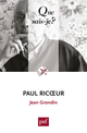 Paul Ricœur De Jean Grondin - Presses Universitaires de France