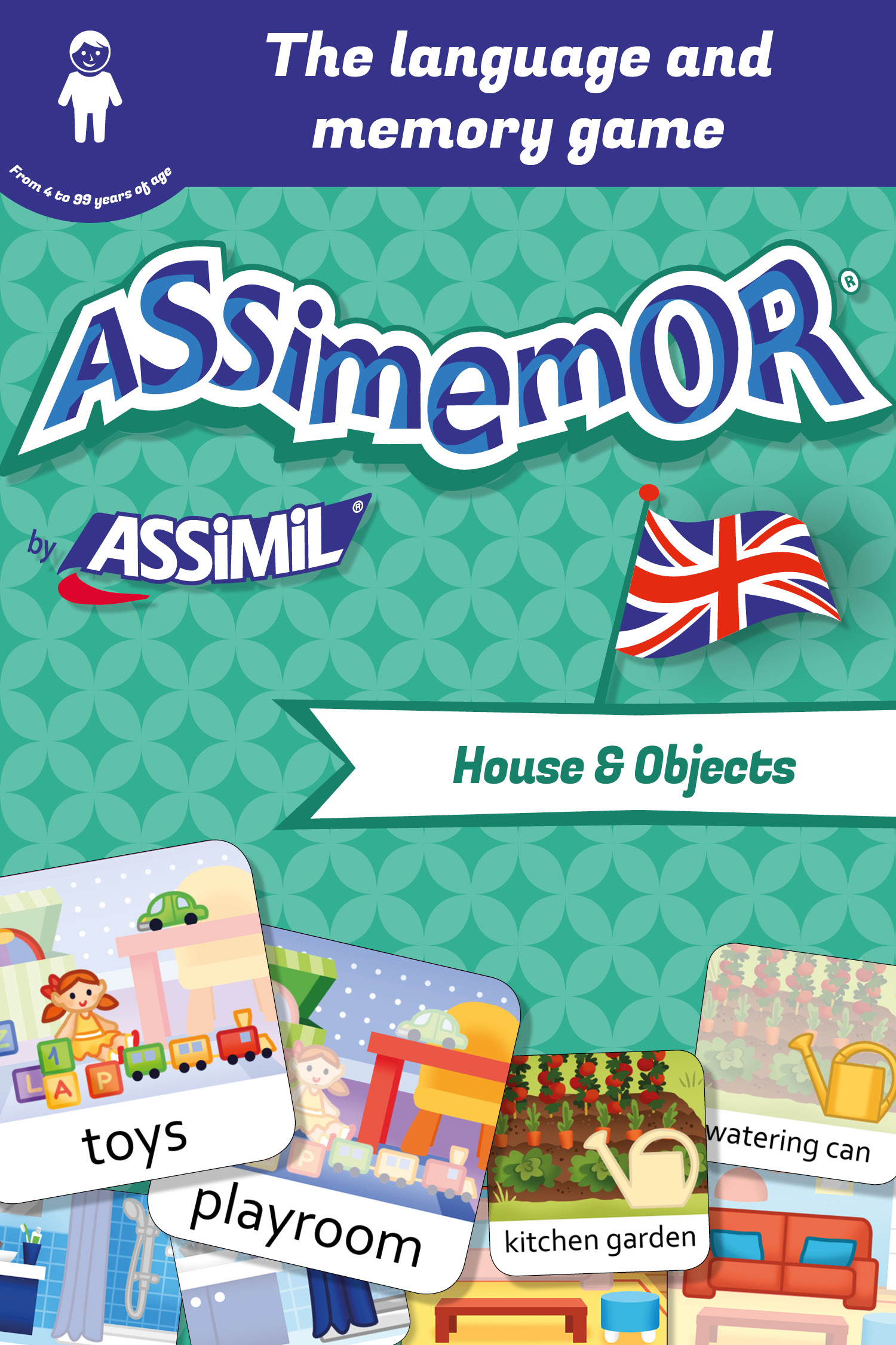 Assimemor – My First English Words: House and Objects De  Céladon  et Léa Fabre - Assimil