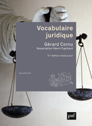 Vocabulaire juridique De Gérard Cornu - Presses Universitaires de France