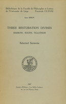Three Restoration Divines: Barrow, South and Tillotson. Volume I De Irène Simon - Presses universitaires de Liège