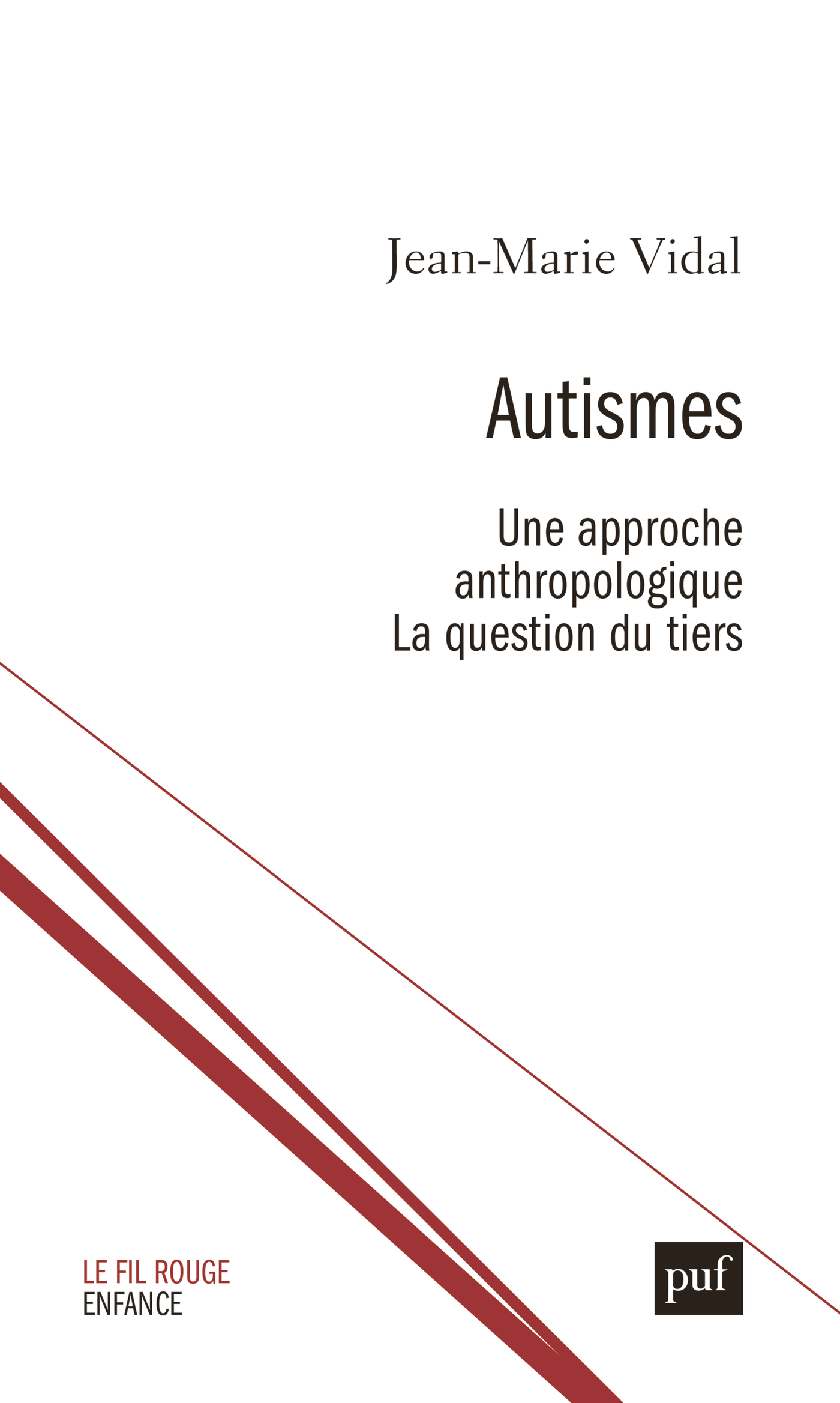 Autismes. Une approche anthropologique De Jean-Marie Vidal - Presses Universitaires de France